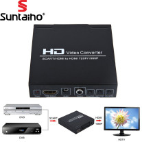SCART +HDMI to HDMI Converter  1080p HD video converter for