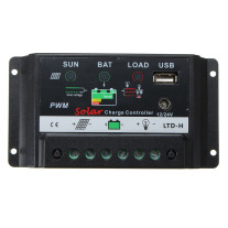 30A 12V USB PWM PV Solar Charge Controller Solar Panel