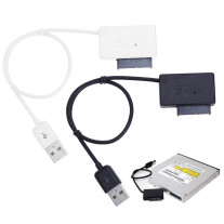 Notebook CD-ROM Drive SATA to USB Cable 6P +7P SATA to
