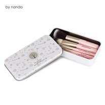 By Nanda Brand 7pcs Pink Makeup Brushes with Iron Box Cheap